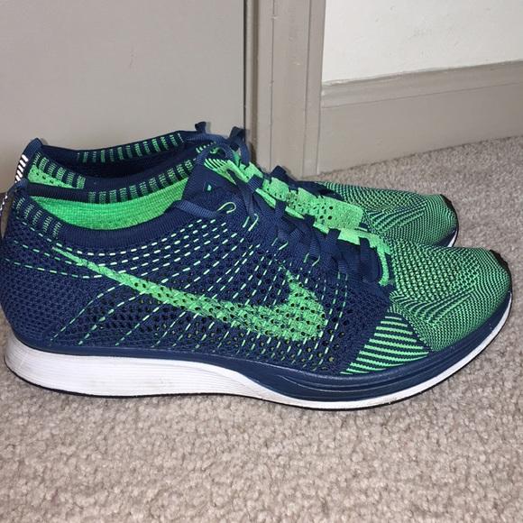 894deadd385a Nike Flyknit racer Brave Blue-Poison Green. M 5abe79469cc7ef0687bab19c